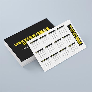 Calendari biglietto da visita