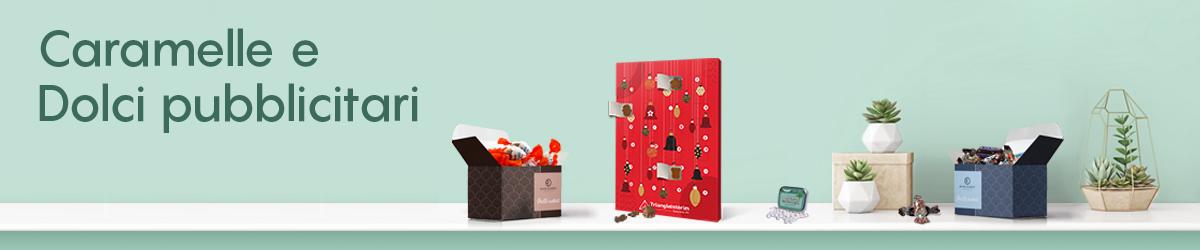 Caramelle e dolci pubblicitari